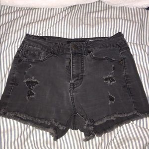 Aéropostale High Waisted Jean Shorts